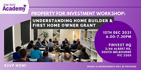 Property for Investment Workshop: Understanding Home Builder & The FHOG tickets