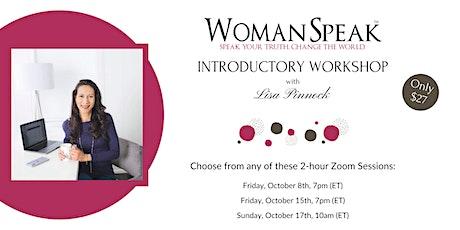 WomanSpeak Introductory Workshop ~ Toronto ON tickets