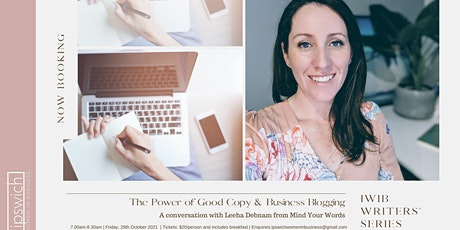 The Power of Good Copy & Business Blogging | IWIB Writers' Series tickets