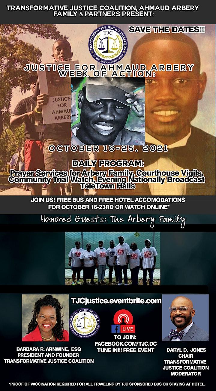 Ahmaud Arbery Trial Week Of Action image