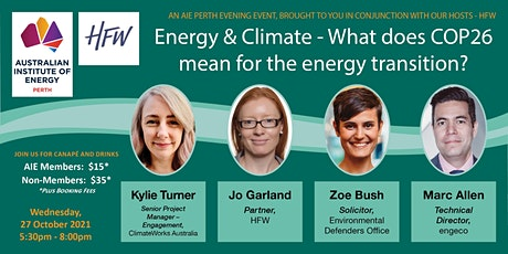 Energy & Climate - What does COP26 mean for the energy transition? tickets