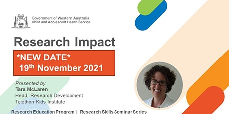 Research Impact - 19 Nov tickets