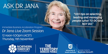 Ask Dr. Jana - Attracting and retaining the right people for growth tickets
