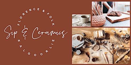 Sip & Ceramics - AM tickets