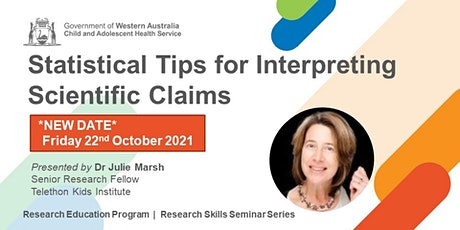 Statistical Tips for Interpreting Scientific Claims - 22 Oct tickets