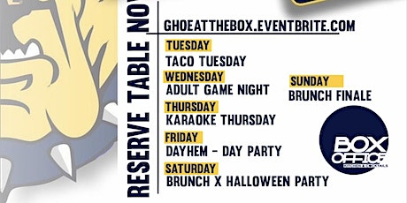 GHOE @ THE BOX tickets