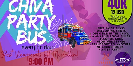 Chiva Party Bus with LiLO entradas