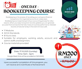 Bookkeeping Course (1 Day) tickets