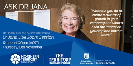 Ask Dr. Jana - Creating a growth culture within your company tickets