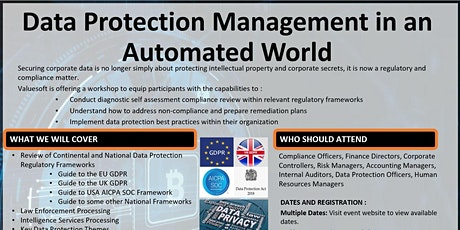 Data Security and Protection in an Automated World tickets