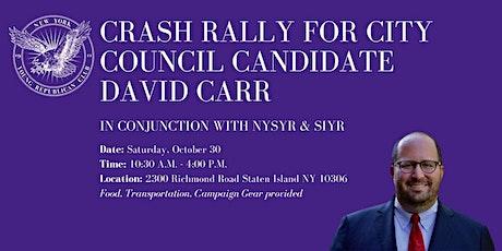 Staten Island Crash Rally with David Carr tickets