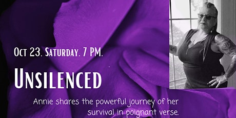 Unsilenced- Annie shares the journey of her survival in  poignant verse tickets