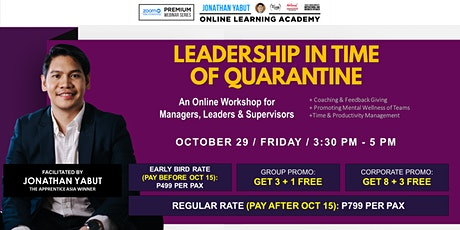 Leadership in Time of Quarantine  with Jonathan Yabut tickets