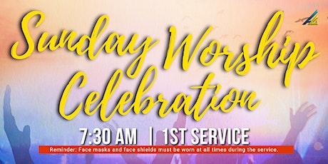 Sunday Worship Celebration | 7:30 am | 1st Service tickets