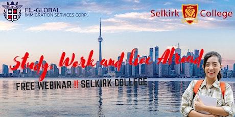 ❗FREE WEBINAR: Study, Work & Live in Canada!  Selkirk College tickets