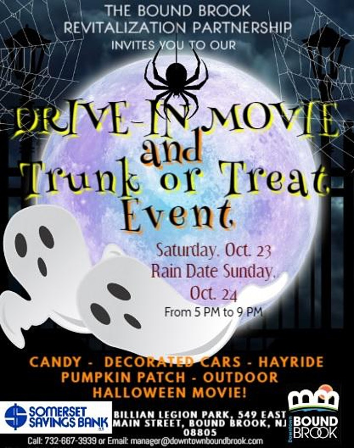 Halloween Drive In Movie and Trunk or Treat Night at Billian Park image