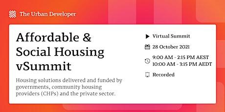 The Urban Developer Affordable & Social Housing vSummit tickets