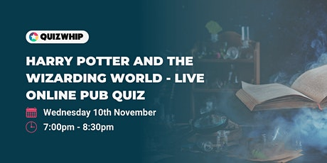 Harry Potter and the Wizarding World - Unofficial Live Online Pub Quiz tickets