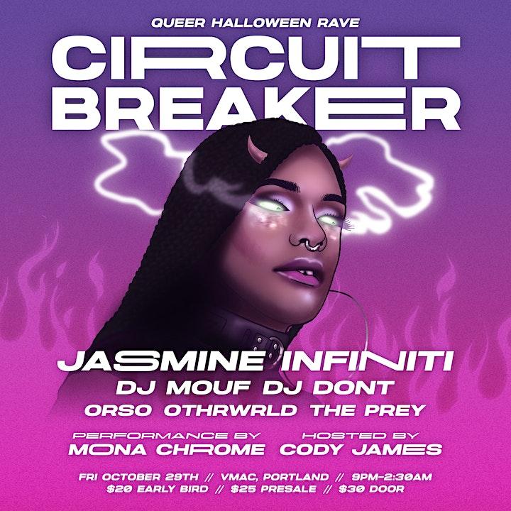 Circuit Breaker Queer Halloween Rave with Jasmine Infiniti at VMAC image