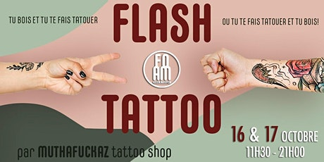 Flash Tattoo : tatouage tout le week-end par le tatoueur MUTHAFUCKAZ. billets