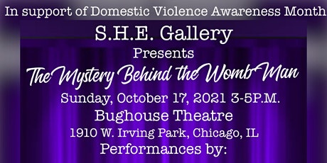 The Mystery Behind the Womb-Man DVAM Performance  Arts (Donation Fee) Thnx! tickets