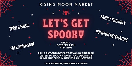 Spooky Night Market - Family friendly makers market with music & grub tickets