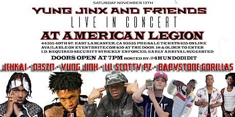 Yung Jinx and Friends | D3szn, BabyStone Gorillas, Jehkai & Lil Scotty Pz tickets