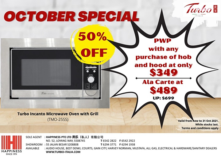 [TURBO OCT SPECIAL] 50% OFF TURBO INCANTO MICROWAVE OVEN WITH GRILL! image