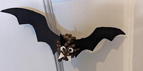 Children's craft workshop: Make a pinecone bat tickets