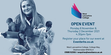 West Lancashire College Open Events tickets