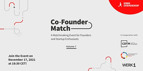Co-Founder Match  Vol.7 Tickets