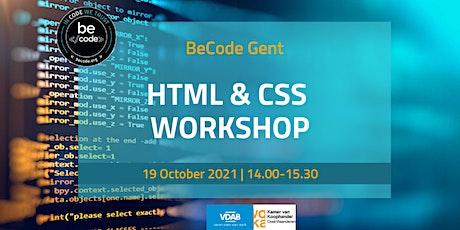 BeCode Gent - HTML + CSS Workshop tickets