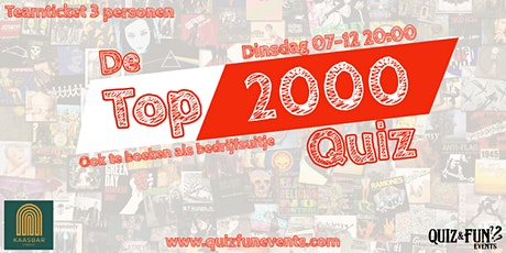 De Top 2000 Quiz | Utrecht 3p. tickets