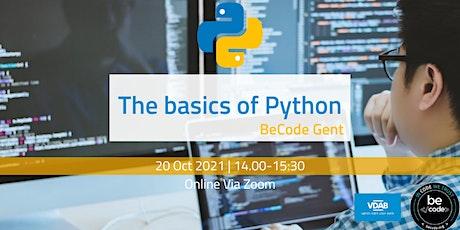 BeCode Gent - Basics of Python tickets