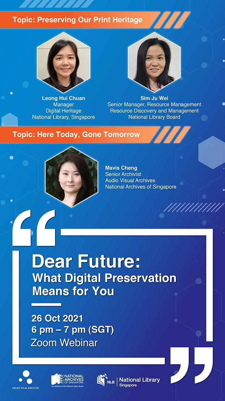 [Session 1] Dear Future: What Digital Preservation Means for You image