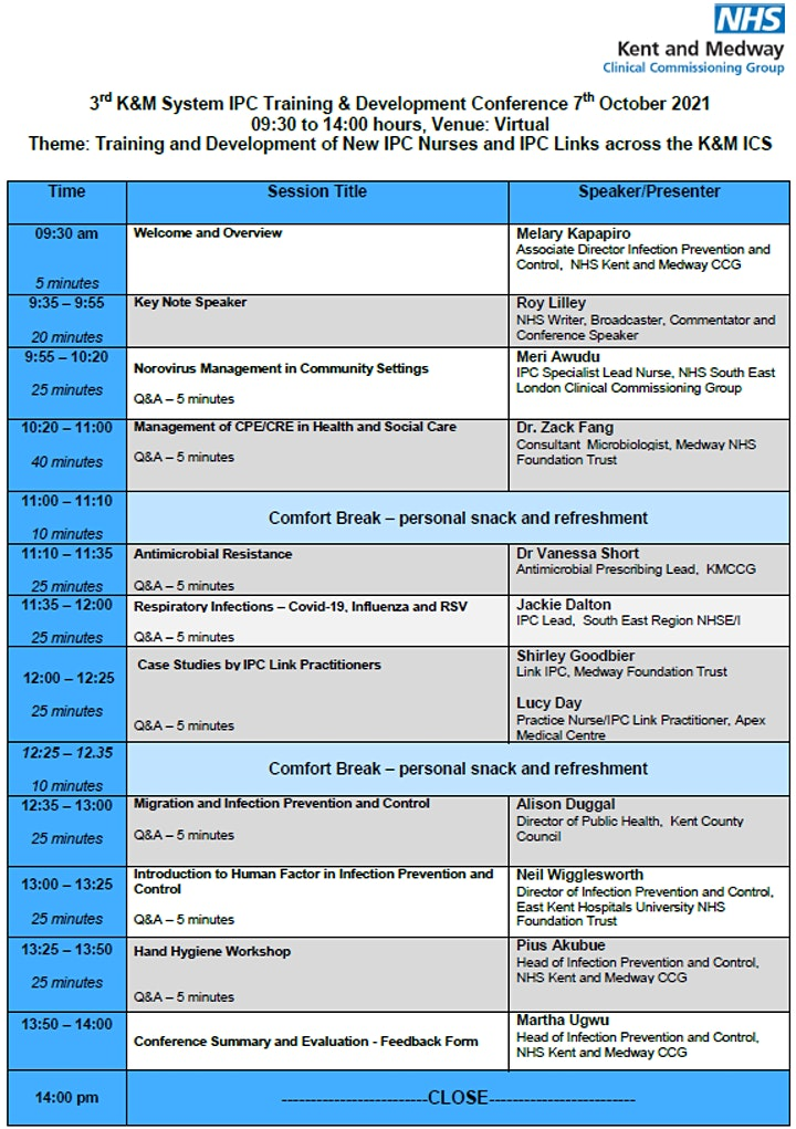 3rd Kent and Medway System IPC Training and Development Conference image