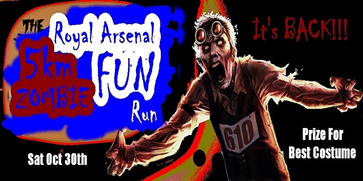 Halloween Zombie Fun Run '5K on the RA' (Few Tickets Left) image