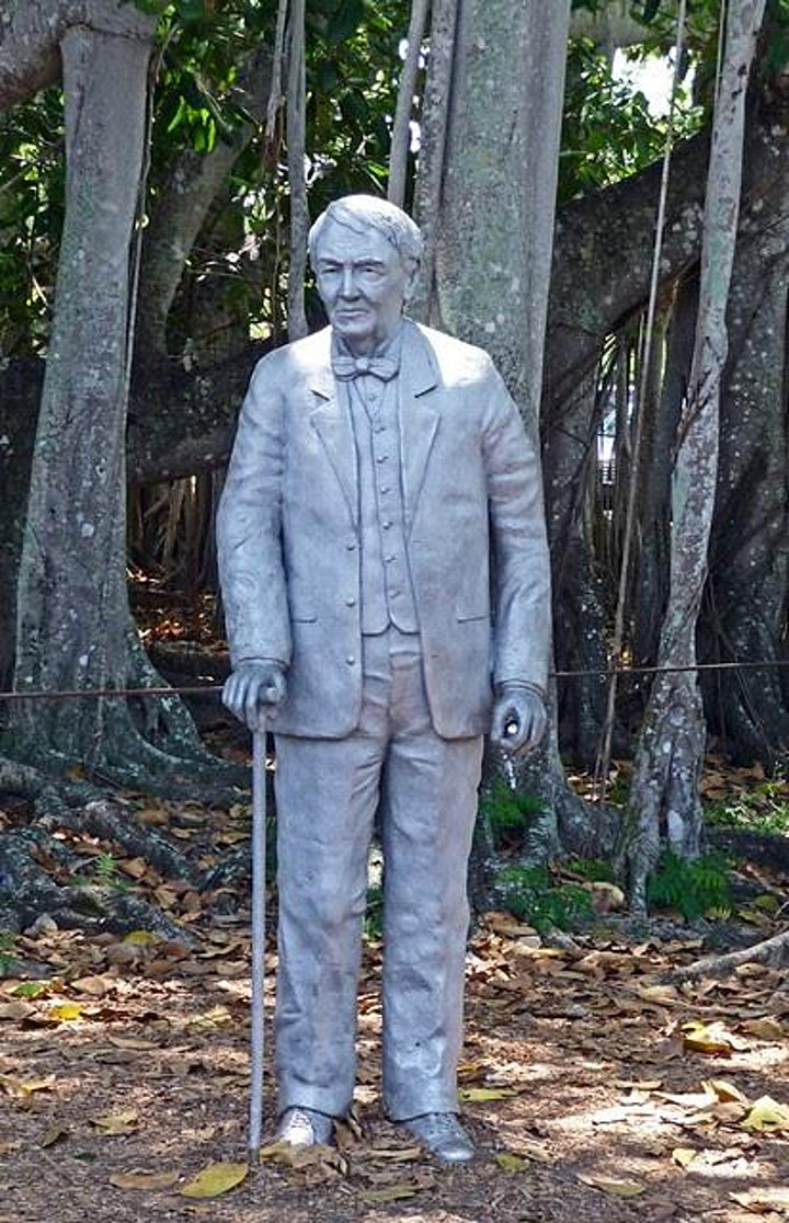 Why was Thomas Edison holding a steel bell in his left hand ?Inspiration... image