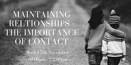 Adoption Week Scot 21 -Maintaining Relationships, The Importance of Contact tickets