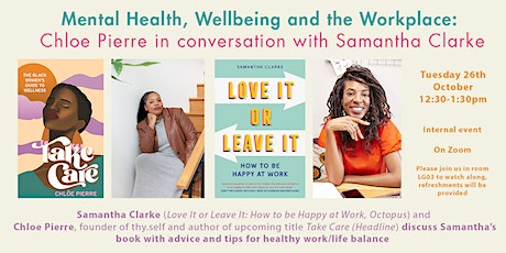 Mental Health, Wellbeing and the Workplace tickets