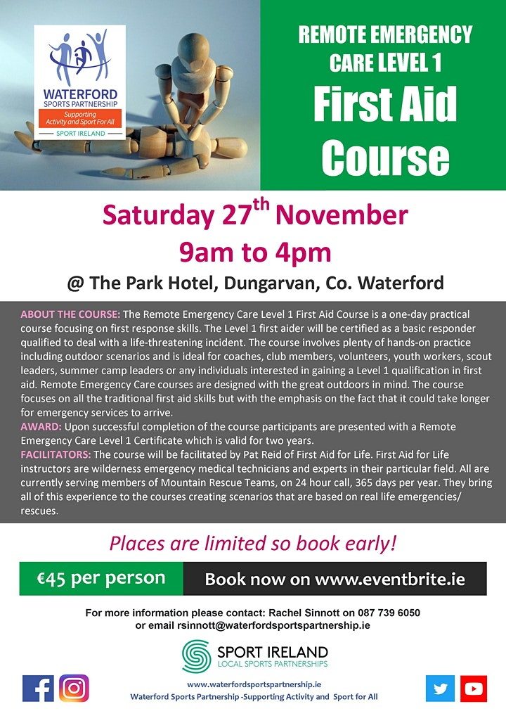 First Aid Course- 27th November image