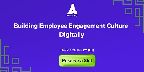 Building Employee Engagement Culture Digitally tickets