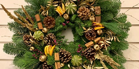 Christmas Wreath making classes with a delicious lunch including wine tickets