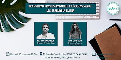 Transition professionnelle et écologique : les erreurs à éviter billets