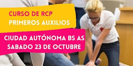 CABA - 23/10 CURSO RCP Y PRIMEROS AUXILIOS EN CABA tickets