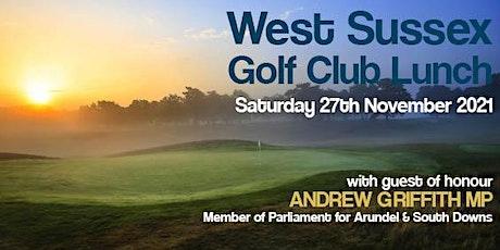 West Sussex Golf Club Lunch tickets