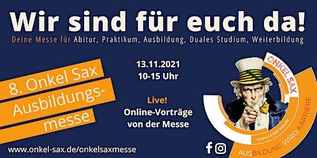 Online-Vorträge 8. Onkel Sax Ausbildungsmesse Tickets