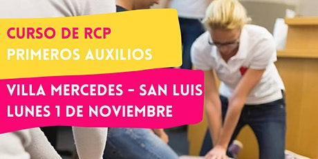 VILLA MERCEDES - 01/11 CURSO RCP Y PRIMEROS AUXILIOS entradas