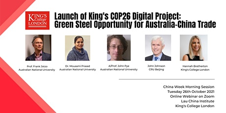 Launch of King's COP26 Digital Project tickets