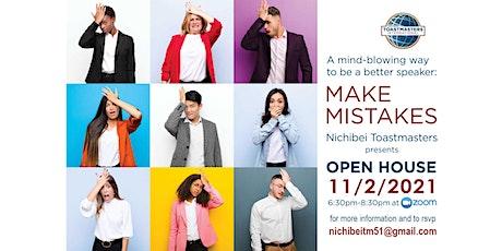 Nichibei Toastmasters Open House 2021 tickets